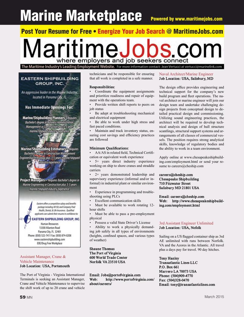 Marine News Magazine, page 59,  Mar 2015