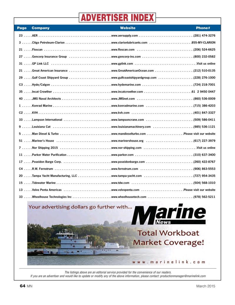 Marine News Magazine, page 64,  Mar 2015