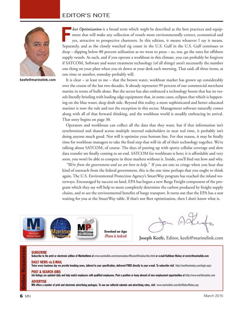 Marine News Magazine, page 6,  Mar 2015