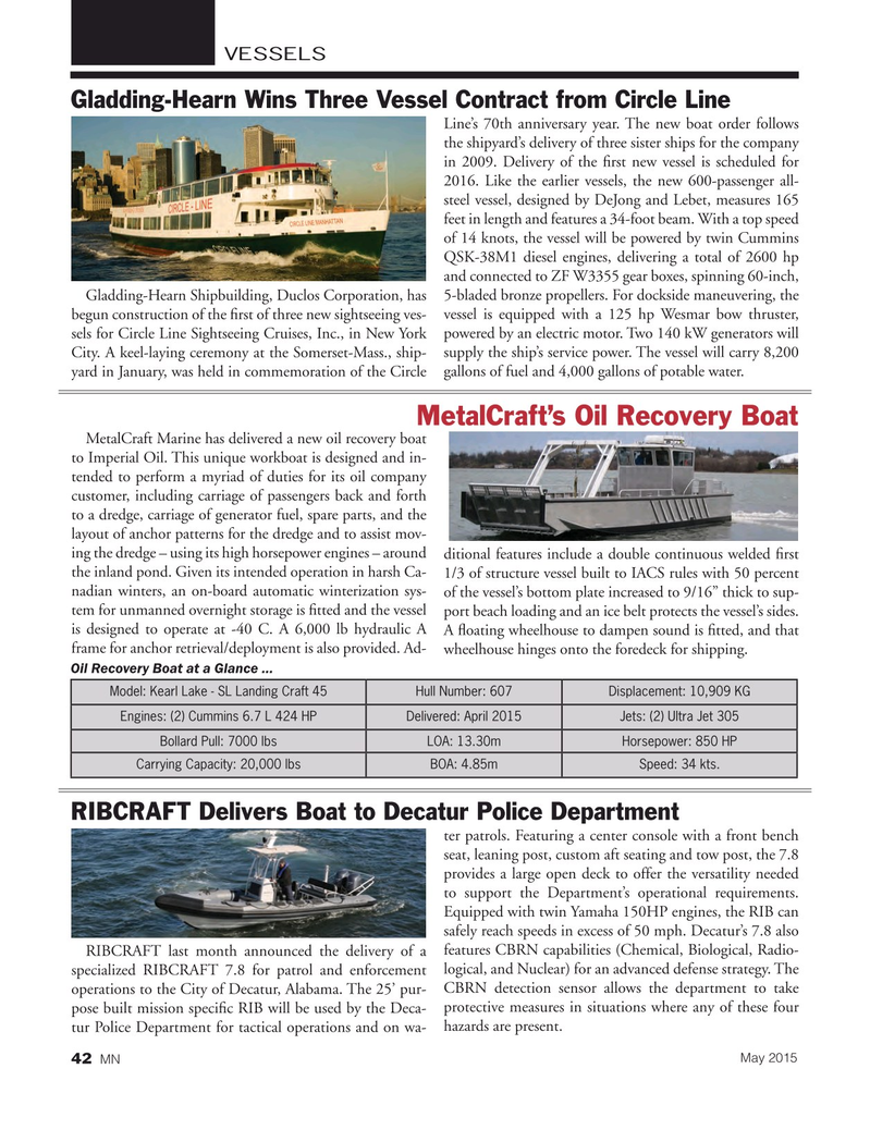 Marine News Magazine, page 42,  May 2015