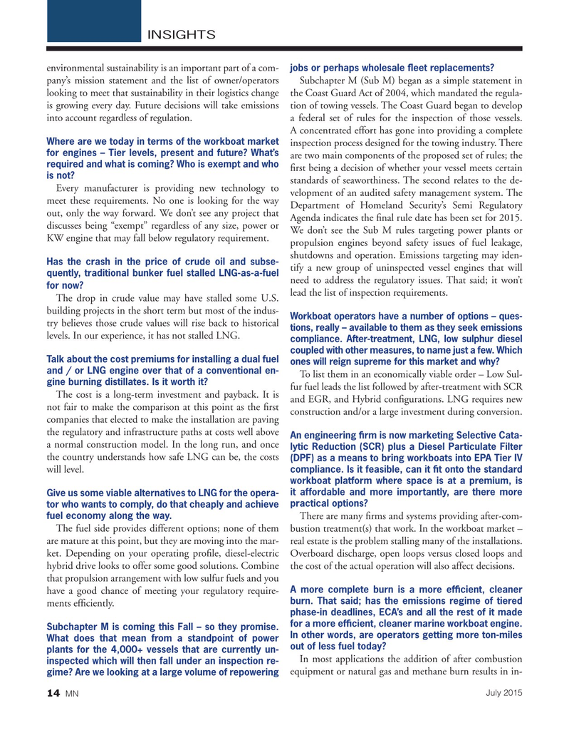 Marine News Magazine, page 14,  Jul 2015