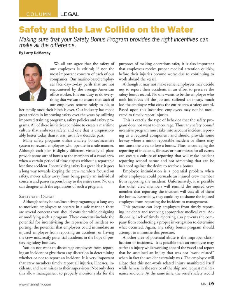 Marine News Magazine, page 19,  Jul 2015