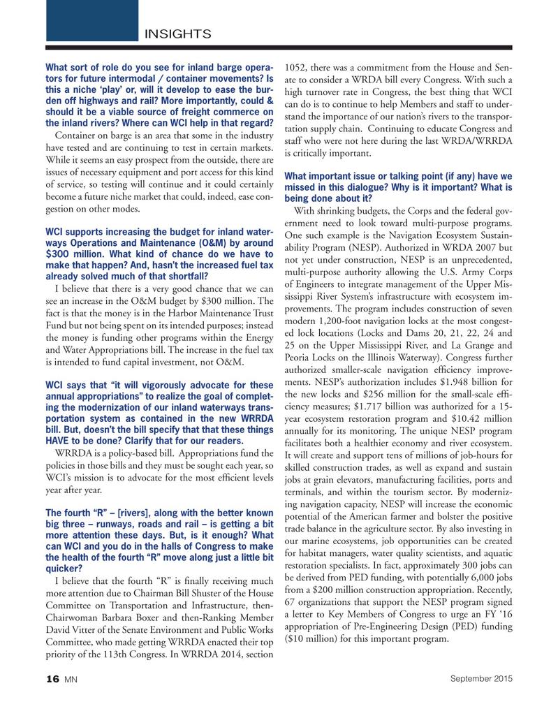 Marine News Magazine, page 16,  Sep 2015