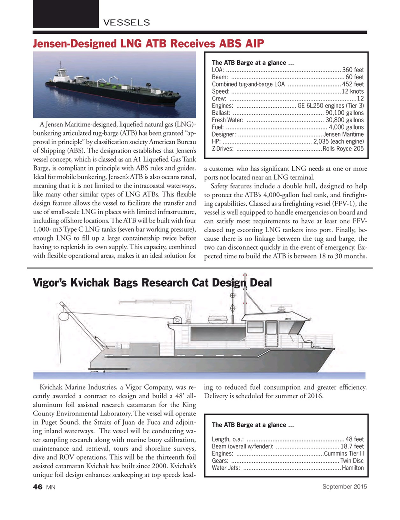 Marine News Magazine, page 46,  Sep 2015