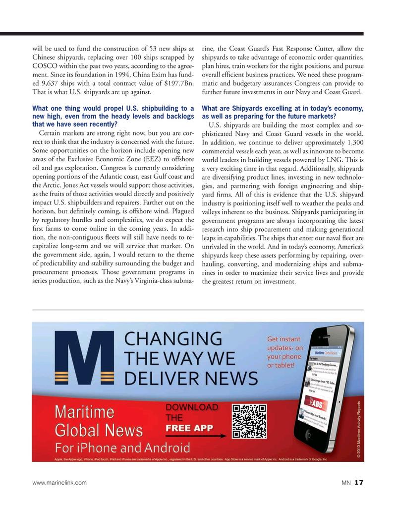 Marine News Magazine, page 17,  Oct 2015