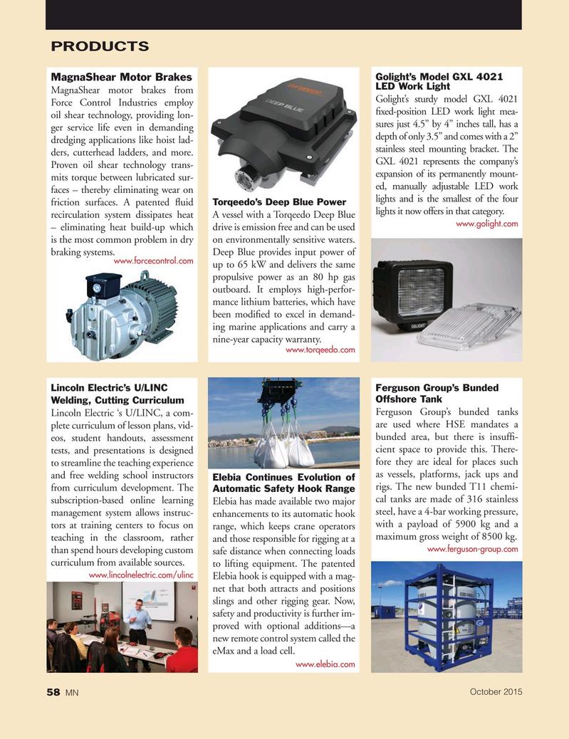 Marine News Magazine, page 58,  Oct 2015
