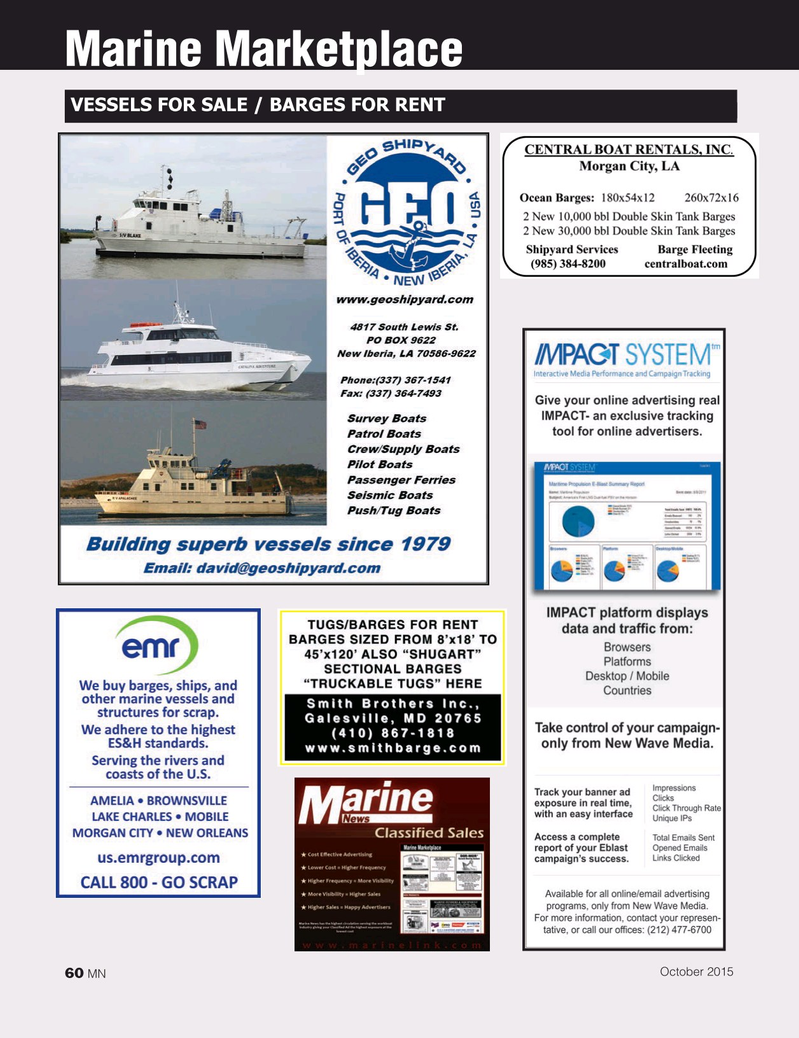 Marine News Magazine, page 60,  Oct 2015