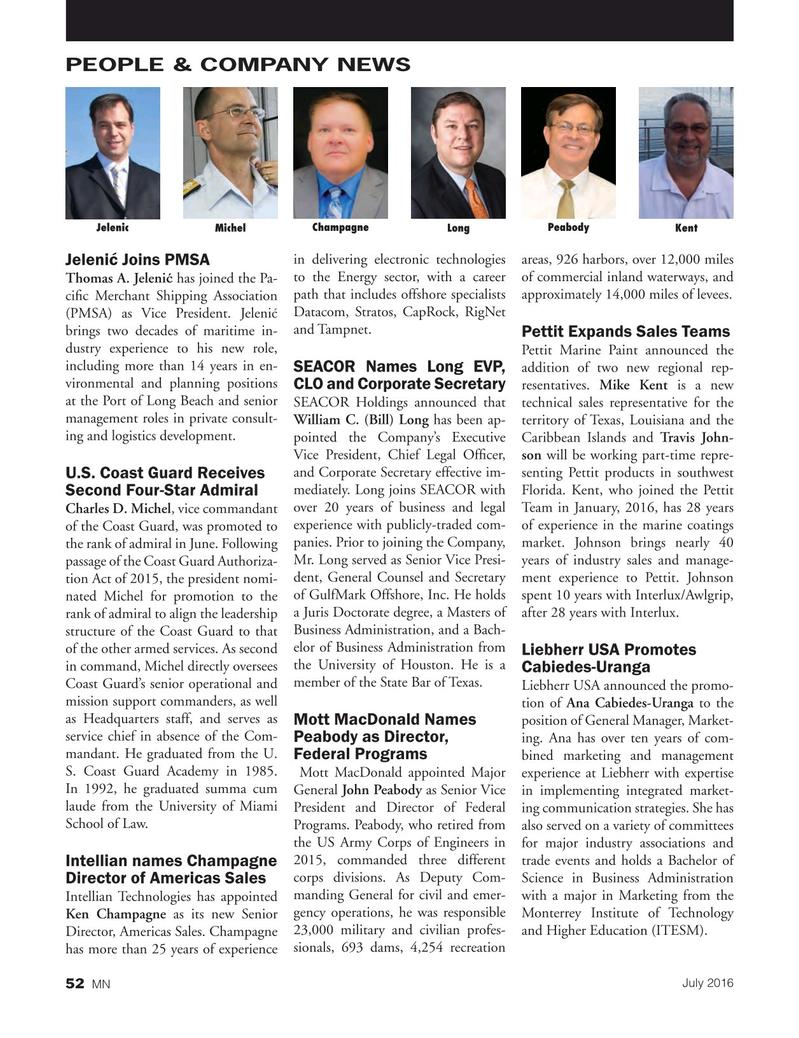 Marine News Magazine, page 52,  Jul 2016