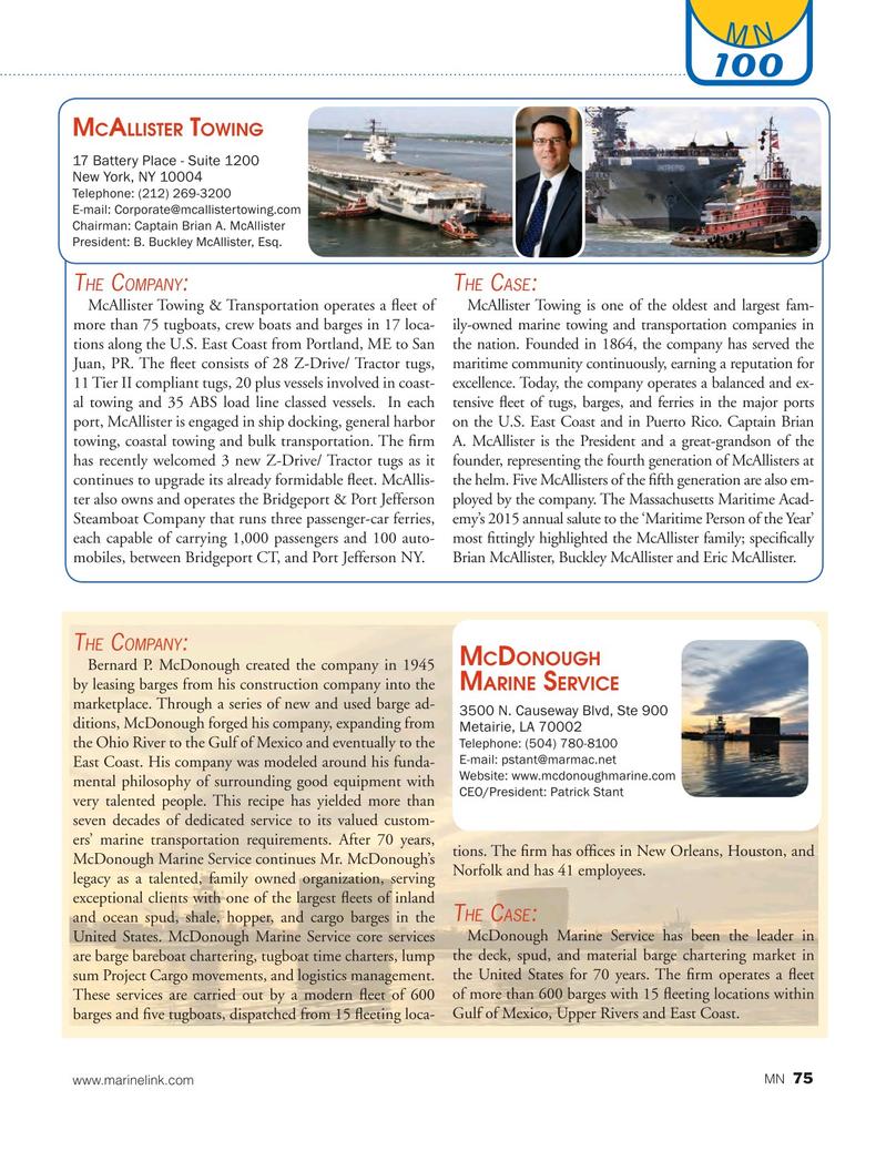 Marine News Magazine, page 75,  Aug 2016