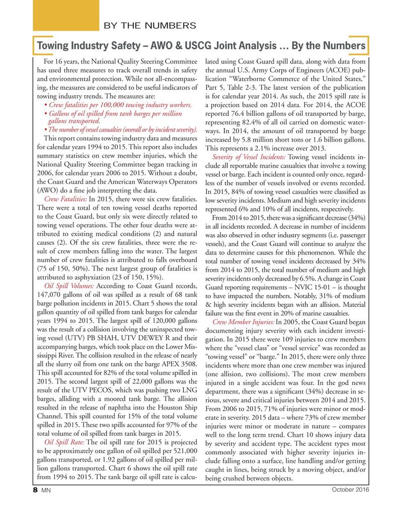 Marine News Magazine, page 8,  Oct 2016