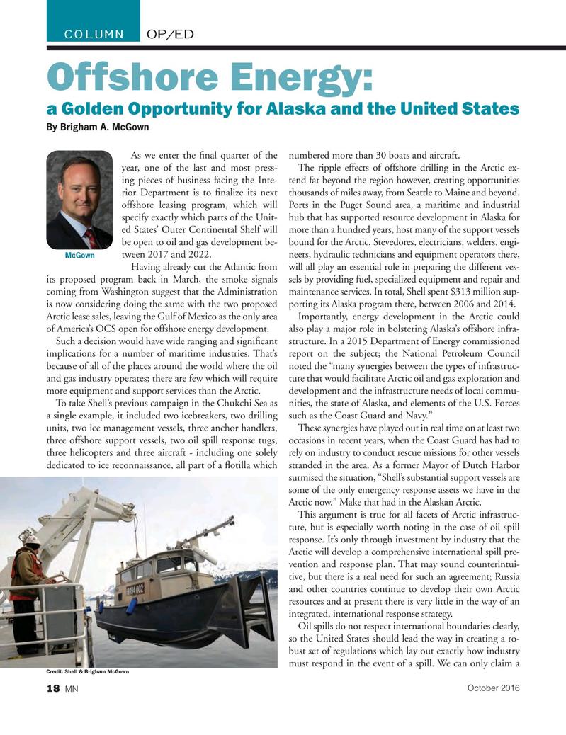 Marine News Magazine, page 18,  Oct 2016