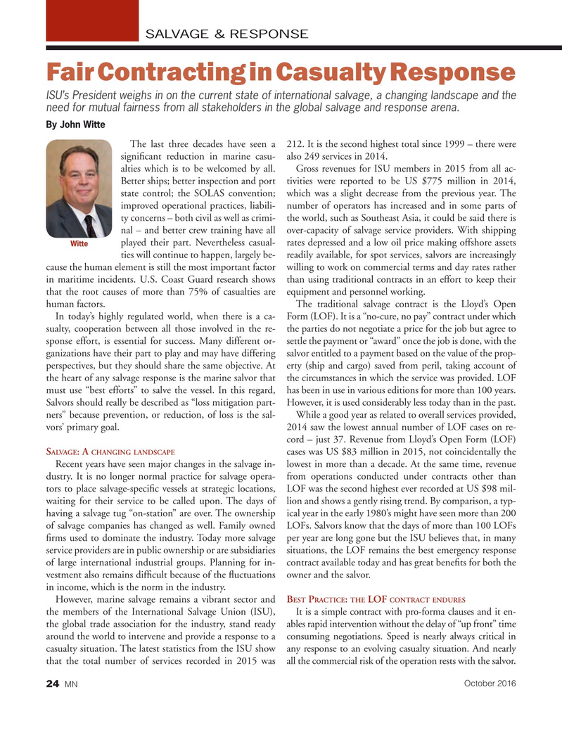 Marine News Magazine, page 24,  Oct 2016