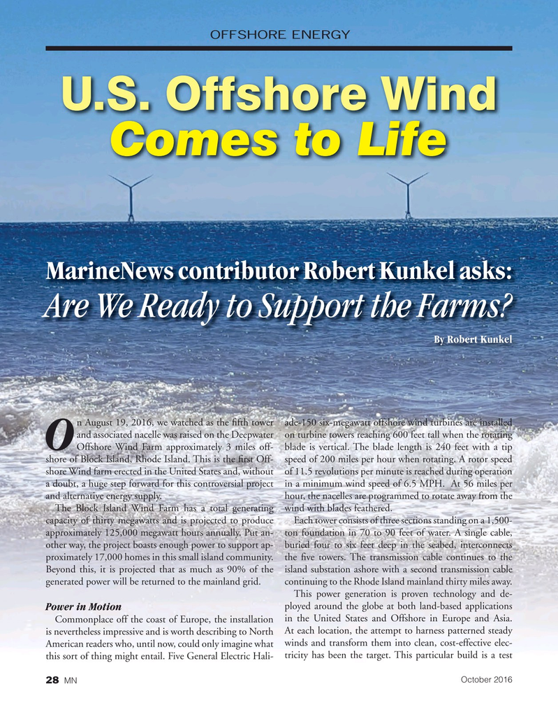 Marine News Magazine, page 28,  Oct 2016