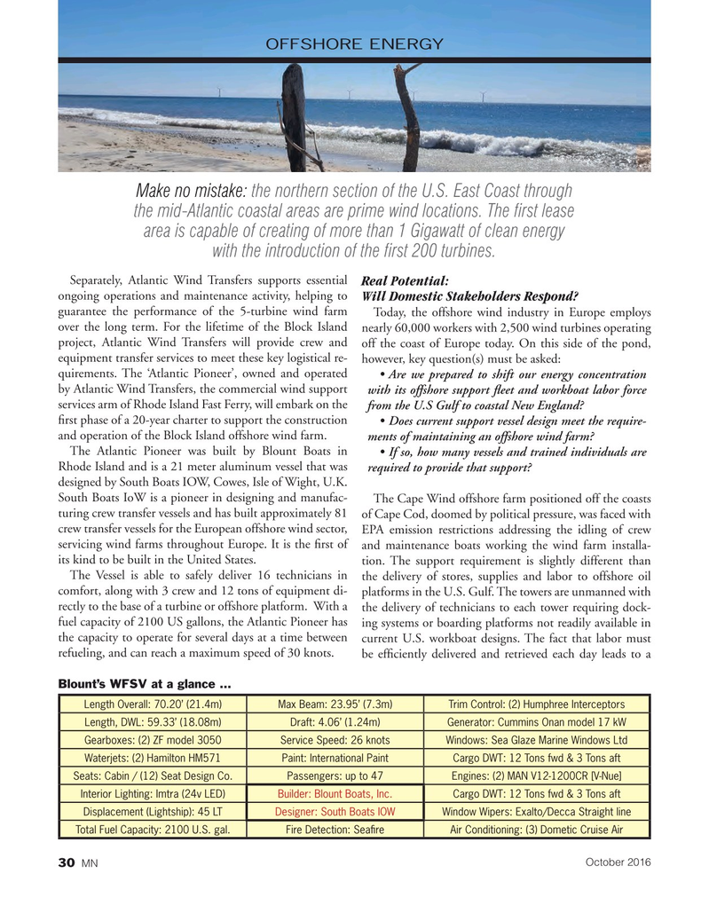 Marine News Magazine, page 30,  Oct 2016
