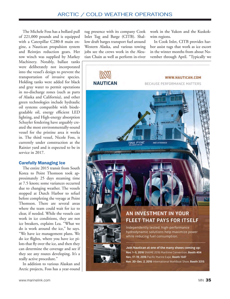 Marine News Magazine, page 35,  Oct 2016