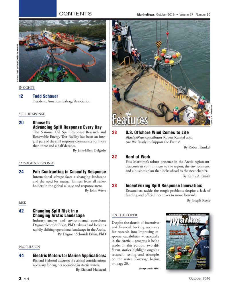 Marine News Magazine, page 2,  Oct 2016