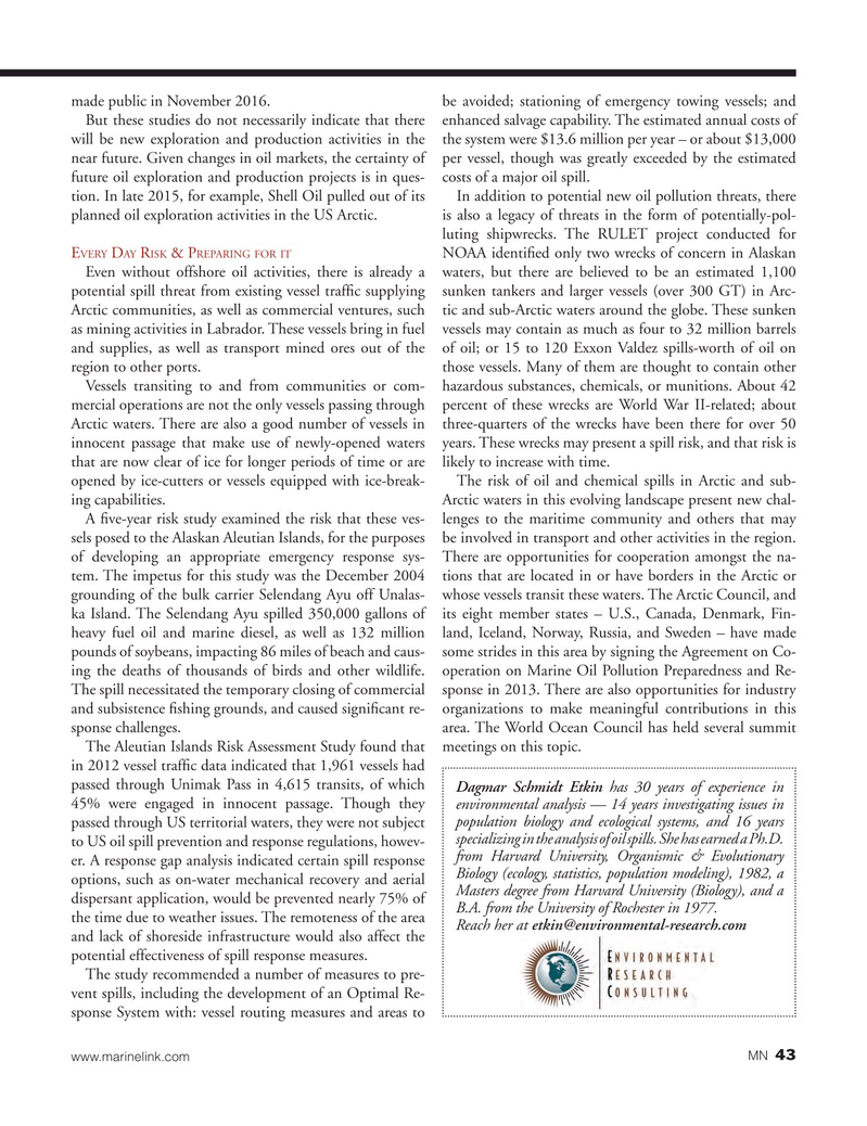 Marine News Magazine, page 43,  Oct 2016