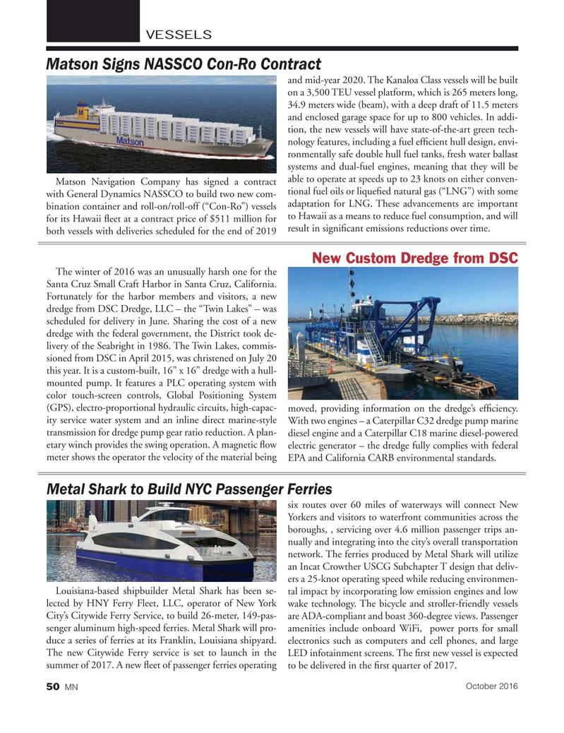 Marine News Magazine, page 50,  Oct 2016