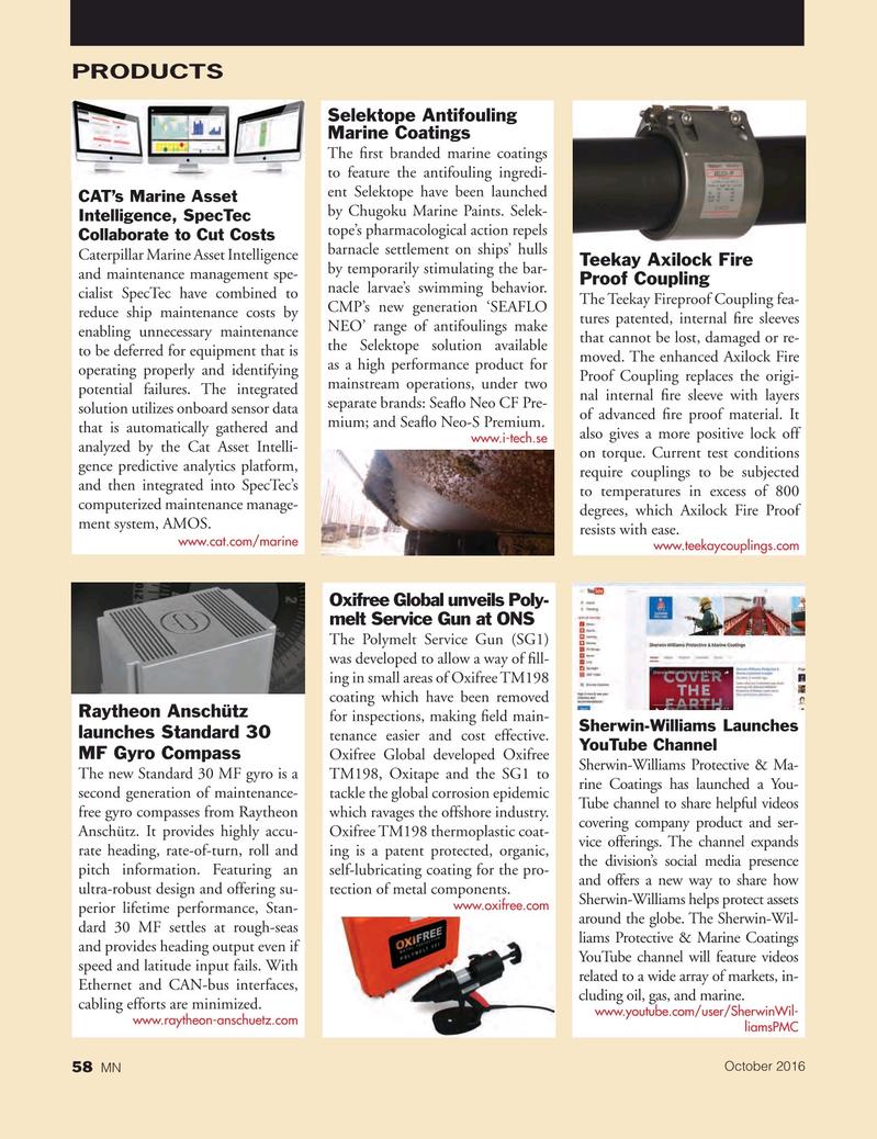 Marine News Magazine, page 58,  Oct 2016
