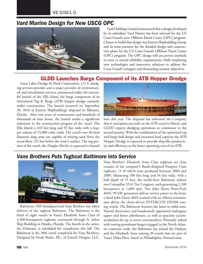 Marine News Magazine, page 98,  Nov 2016