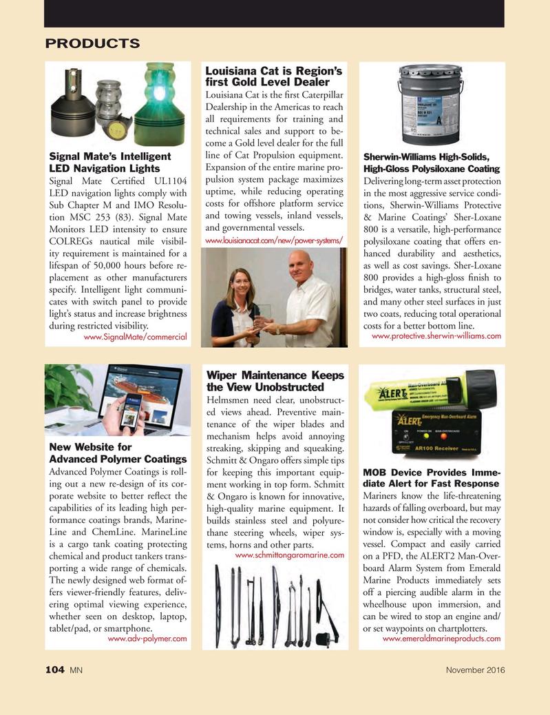 Marine News Magazine, page 104,  Nov 2016