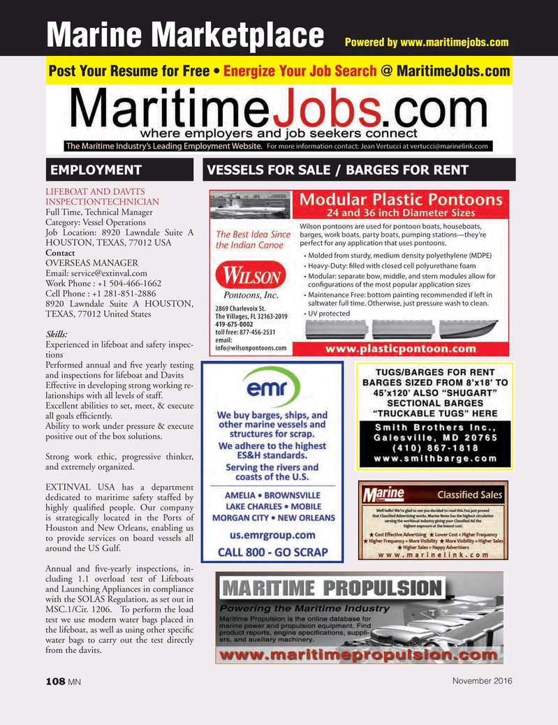 Marine News Magazine, page 108,  Nov 2016
