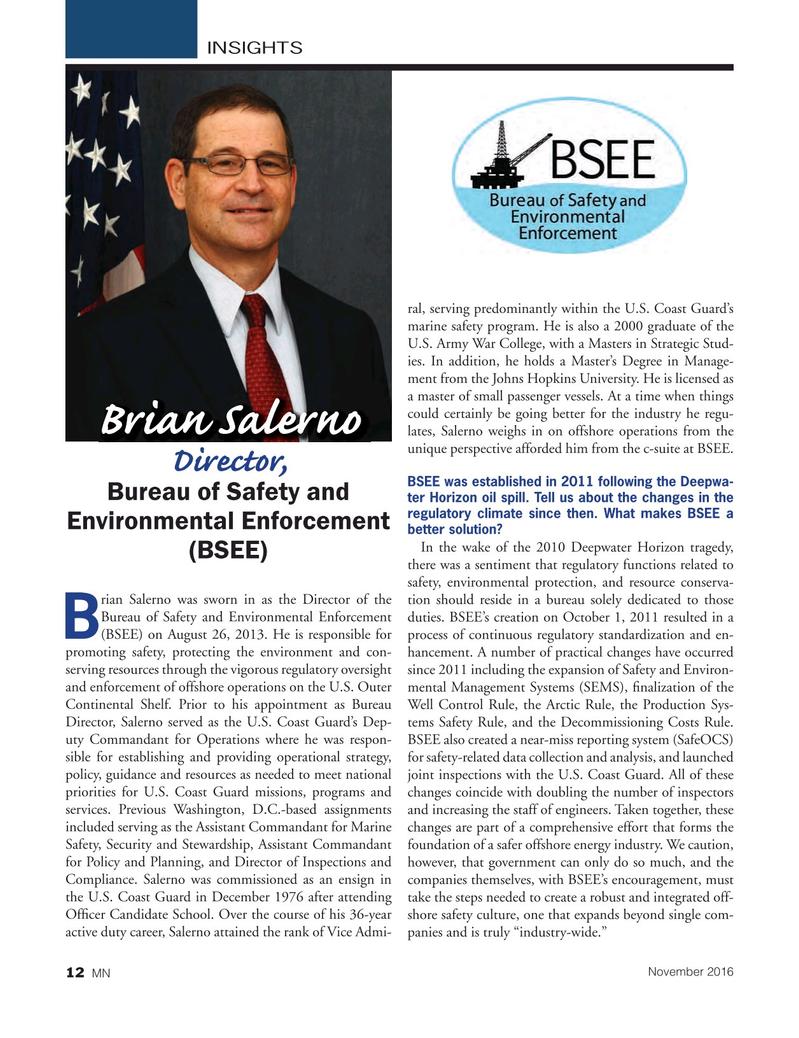 Marine News Magazine, page 12,  Nov 2016