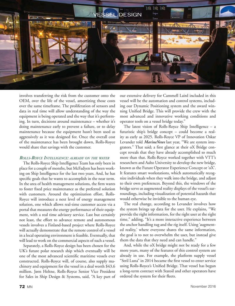 Marine News Magazine, page 72,  Nov 2016