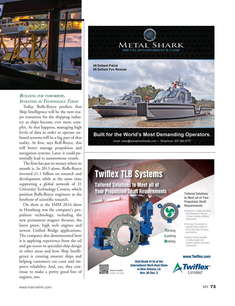Marine News Magazine, page 73,  Nov 2016