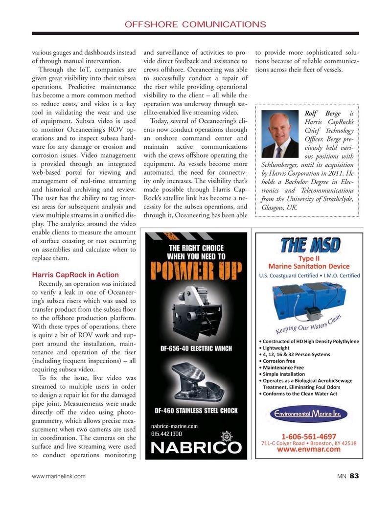 Marine News Magazine, page 83,  Nov 2016