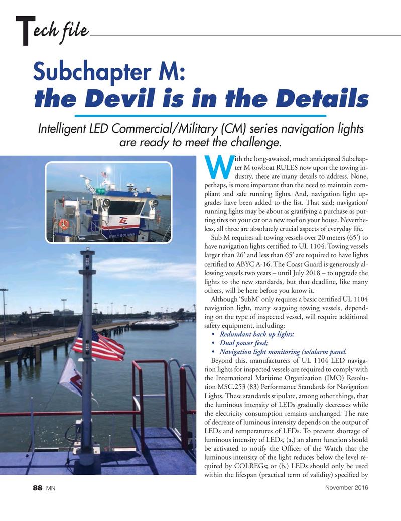 Marine News Magazine, page 88,  Nov 2016