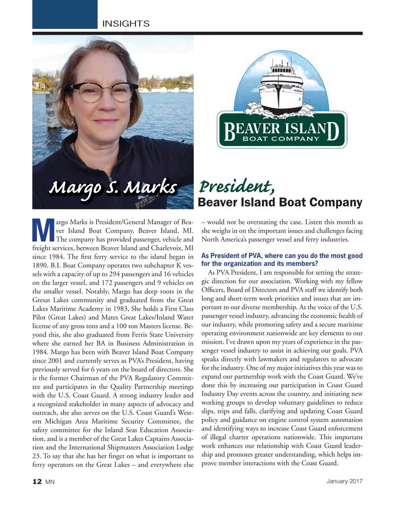 Marine News Magazine, page 12,  Jan 2017