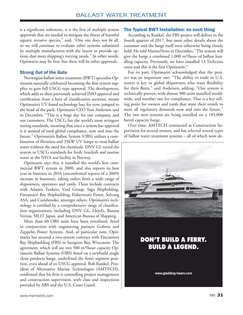 Marine News Magazine, page 31,  Jan 2017