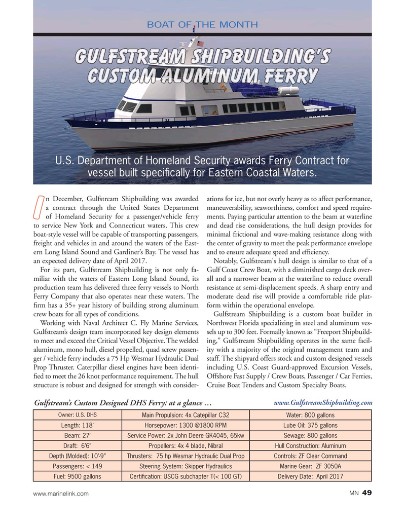Marine News Magazine, page 49,  Jan 2017