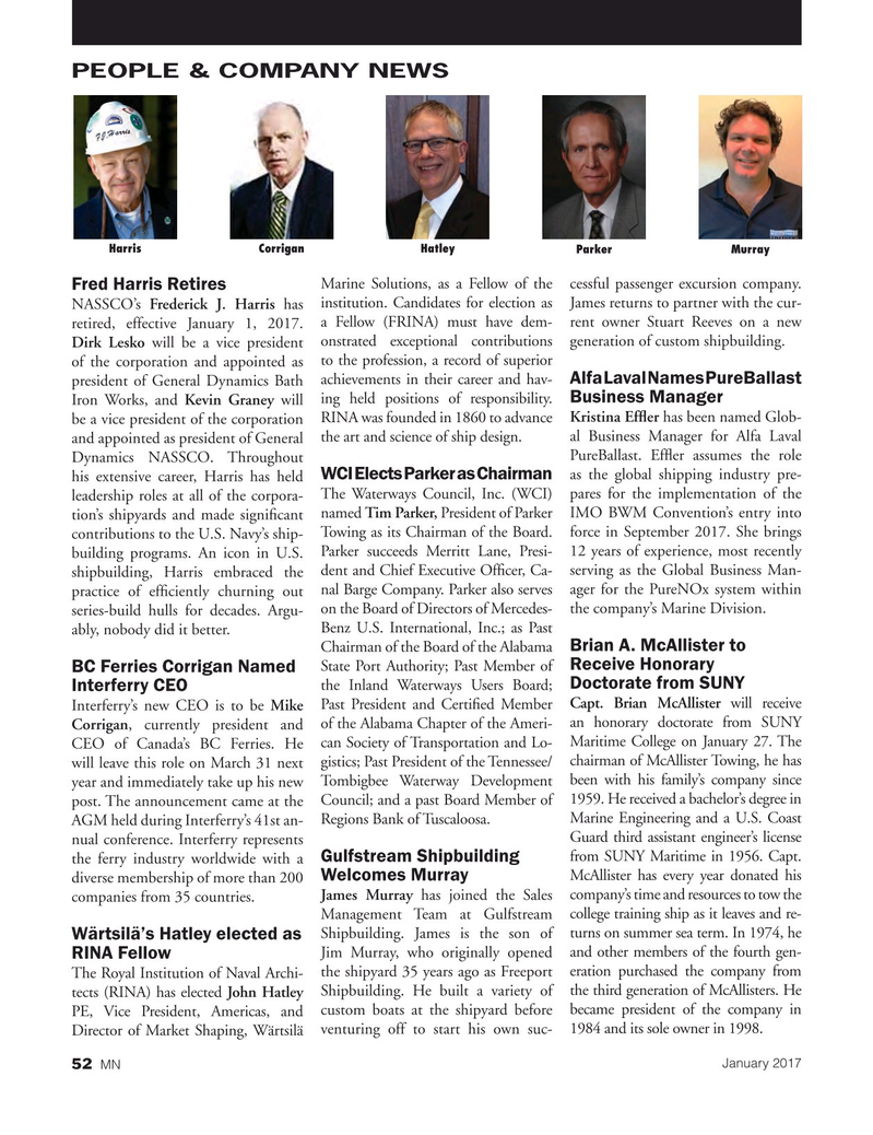 Marine News Magazine, page 52,  Jan 2017