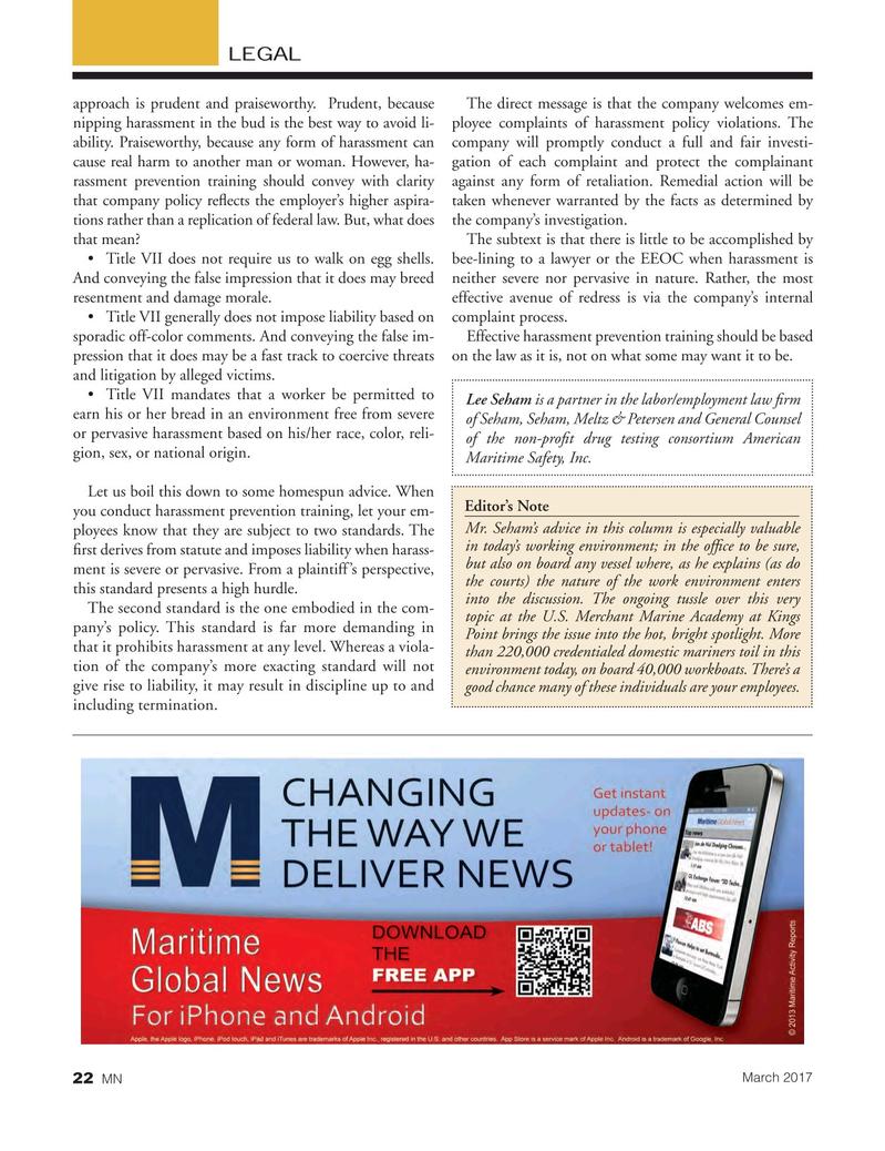 Marine News Magazine, page 22,  Mar 2017