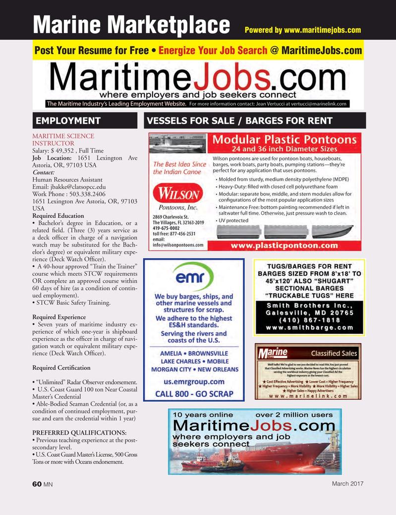 Marine News Magazine, page 60,  Mar 2017