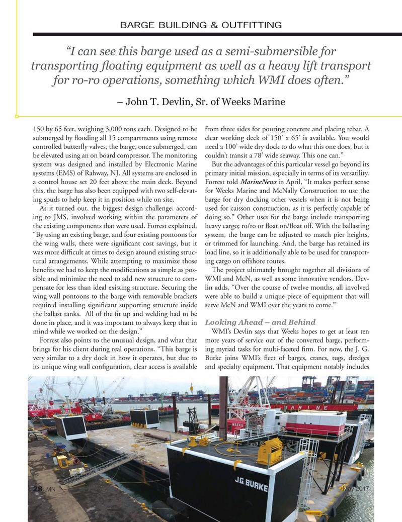 Marine News Magazine, page 28,  May 2017