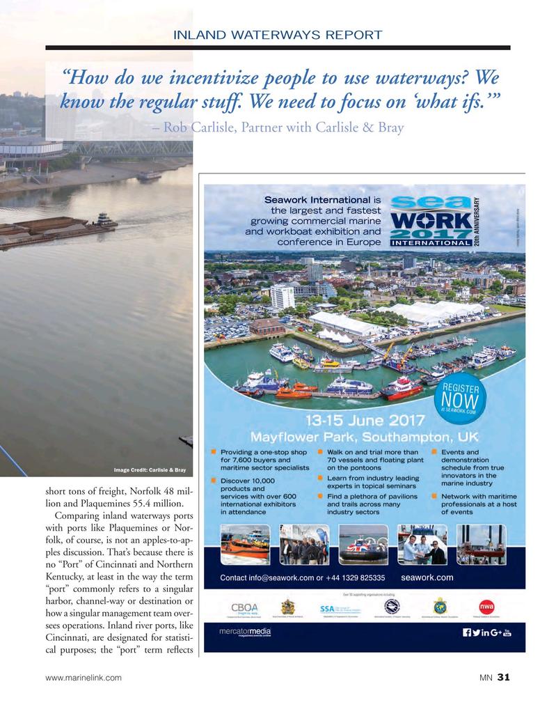 Marine News Magazine, page 31,  May 2017