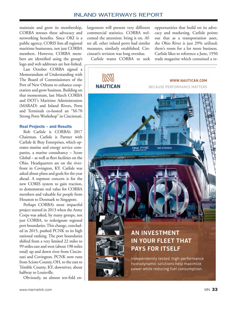 Marine News Magazine, page 33,  May 2017