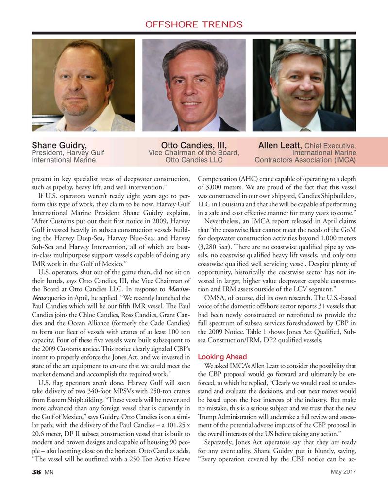 Marine News Magazine, page 38,  May 2017