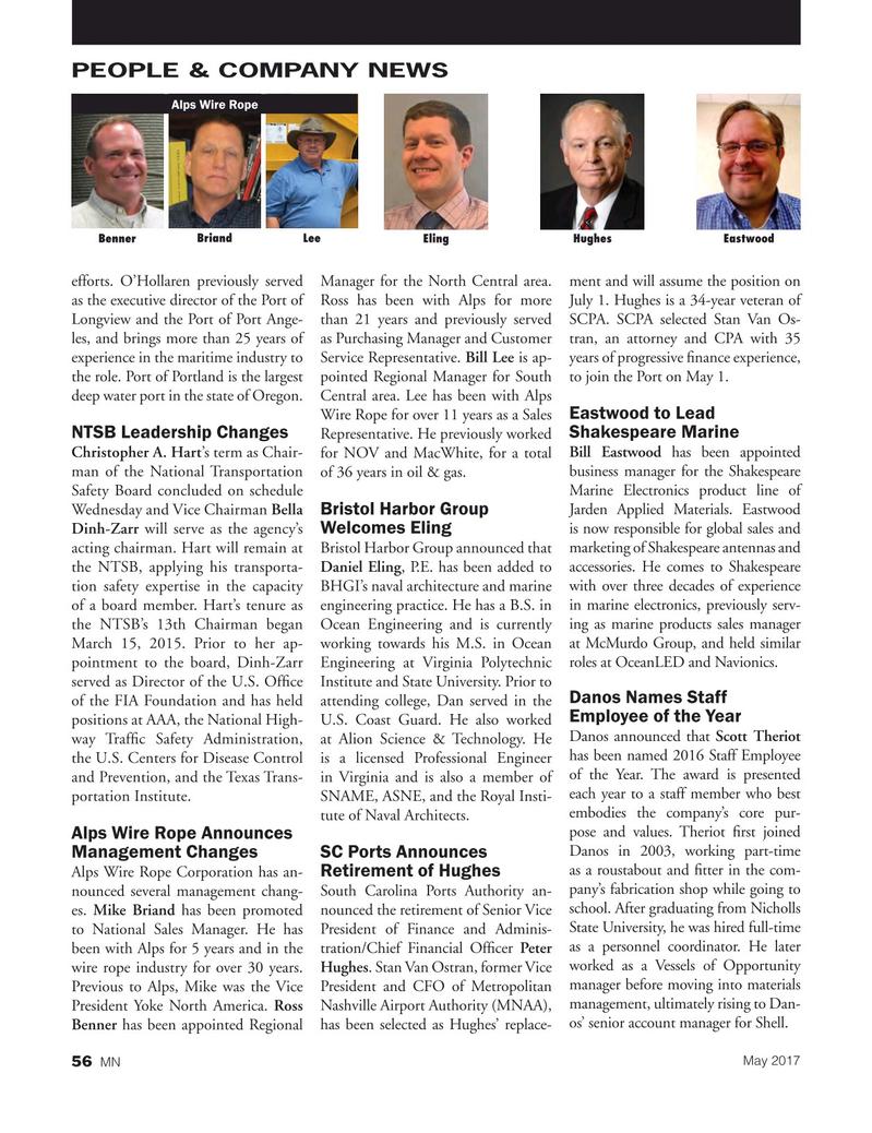 Marine News Magazine, page 56,  May 2017