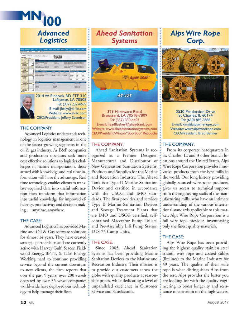 Marine News Magazine, page 12,  Aug 2017