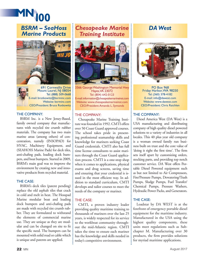 Marine News Magazine, page 22,  Aug 2017