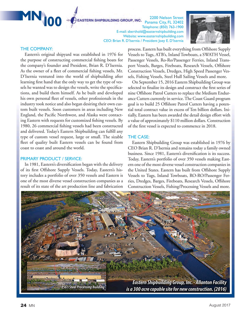Marine News Magazine, page 24,  Aug 2017