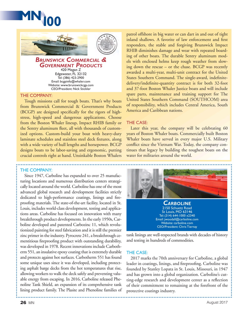 Marine News Magazine, page 26,  Aug 2017