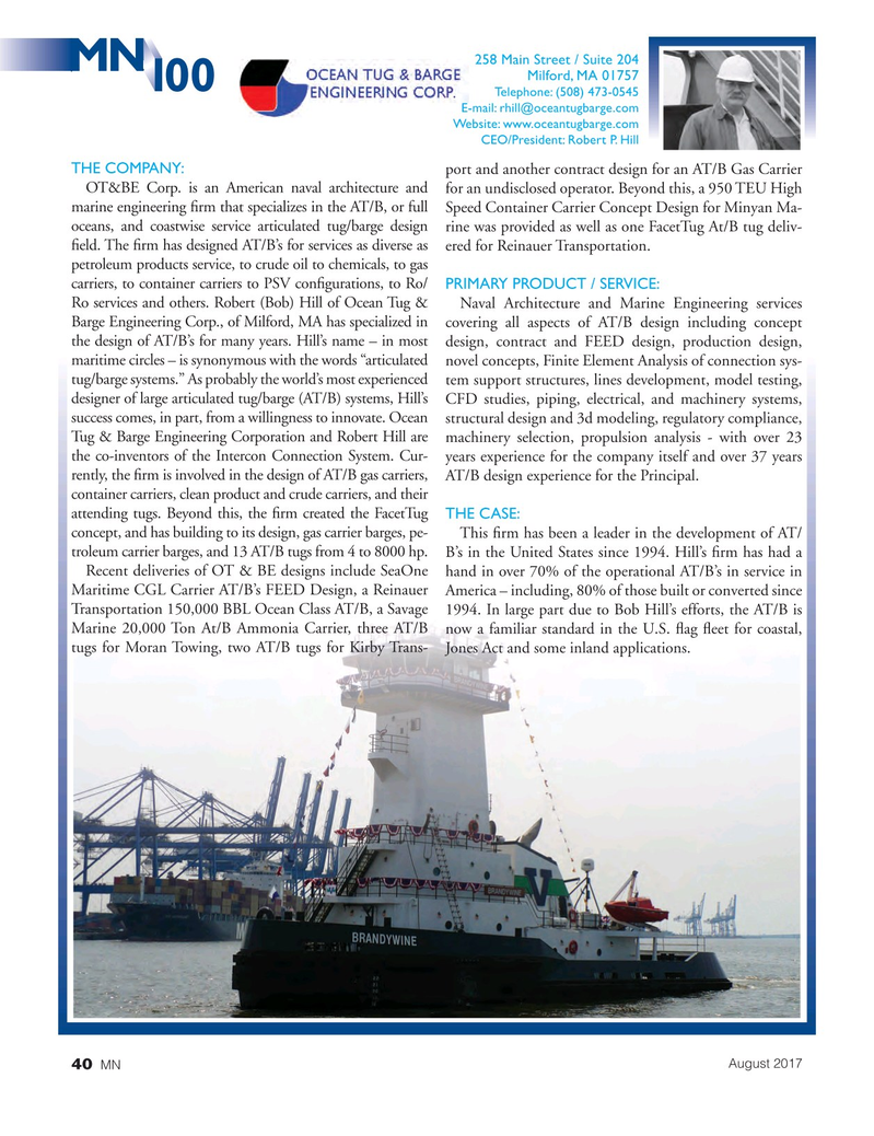 Marine News Magazine, page 40,  Aug 2017