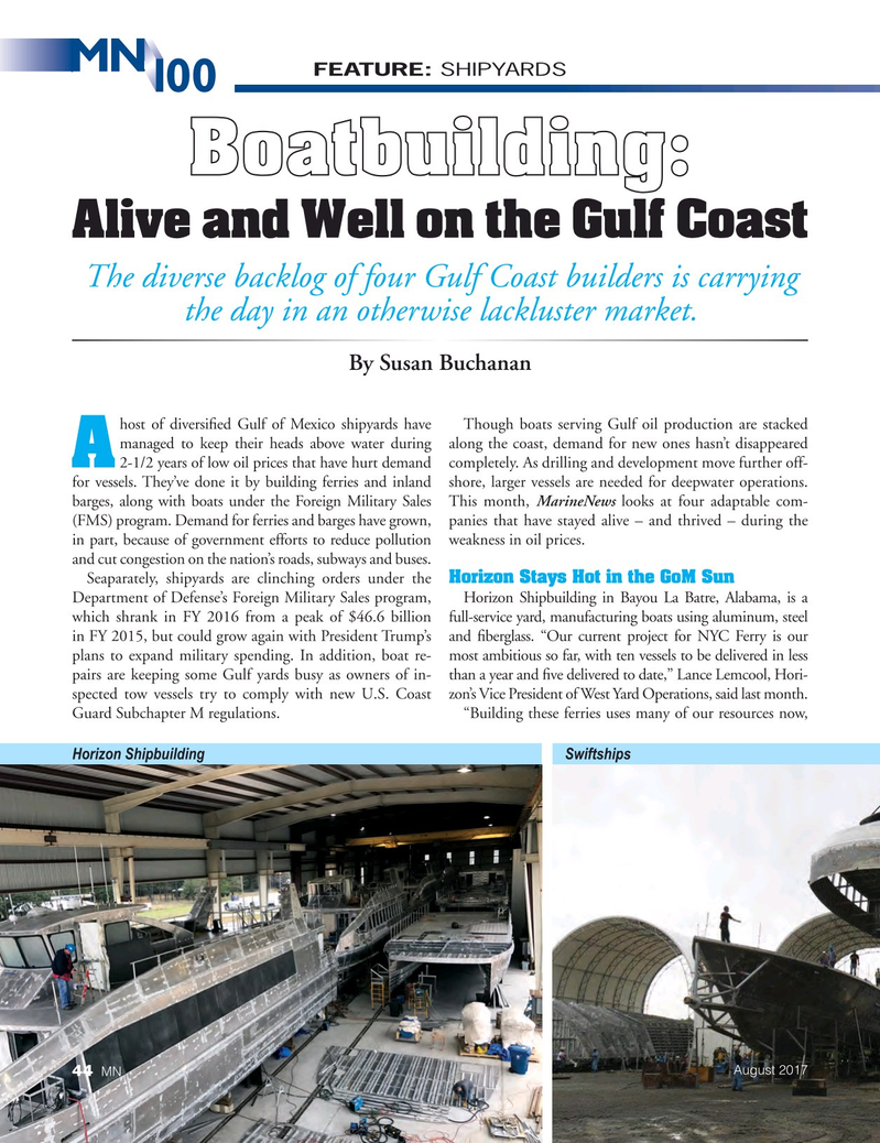 Marine News Magazine, page 44,  Aug 2017