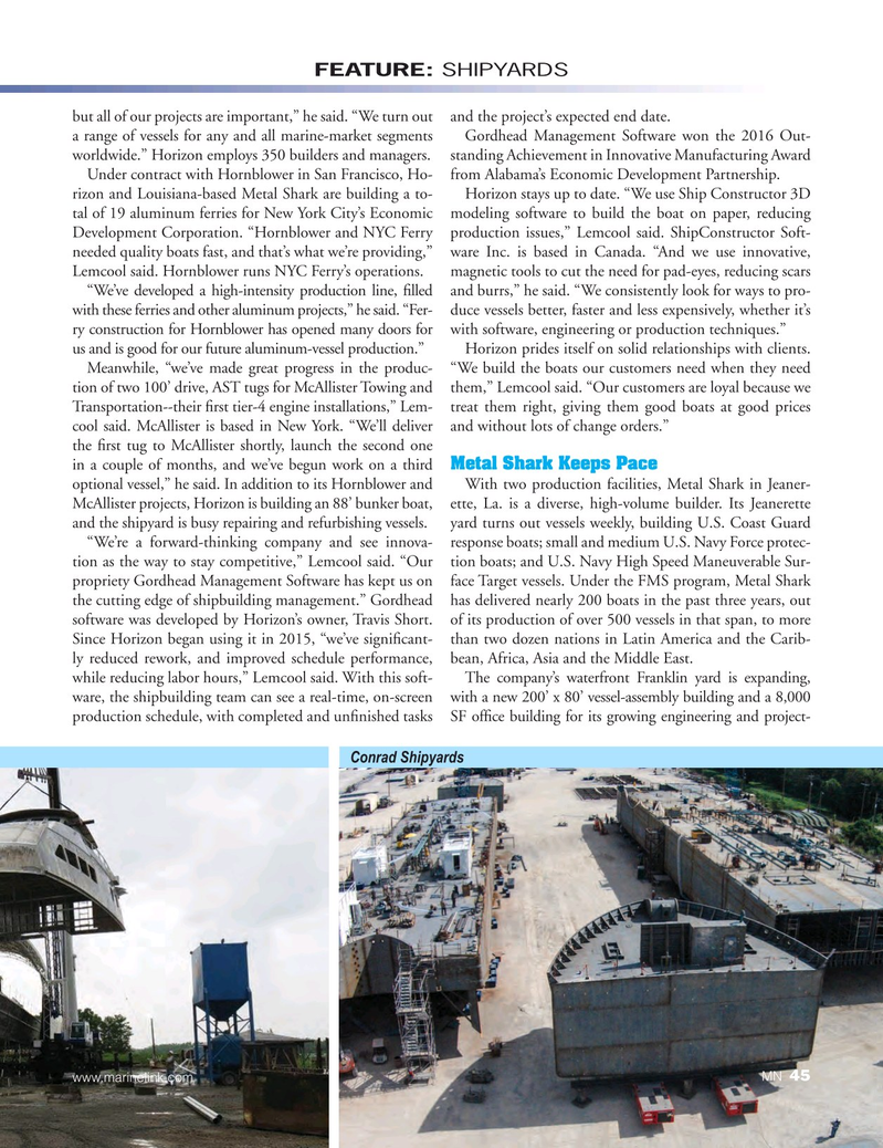 Marine News Magazine, page 45,  Aug 2017