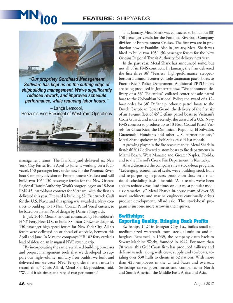 Marine News Magazine, page 46,  Aug 2017